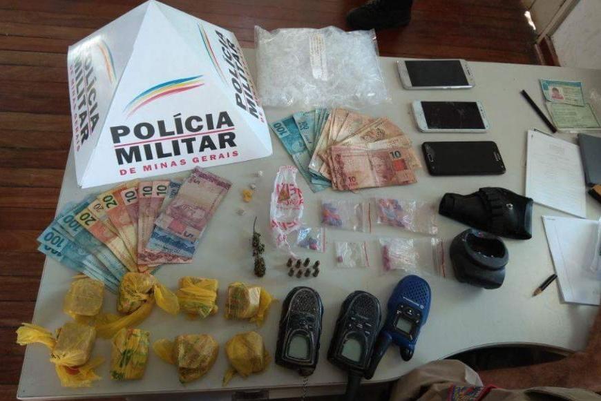Pai e filha de 14 anos são presos por tráfico de drogas