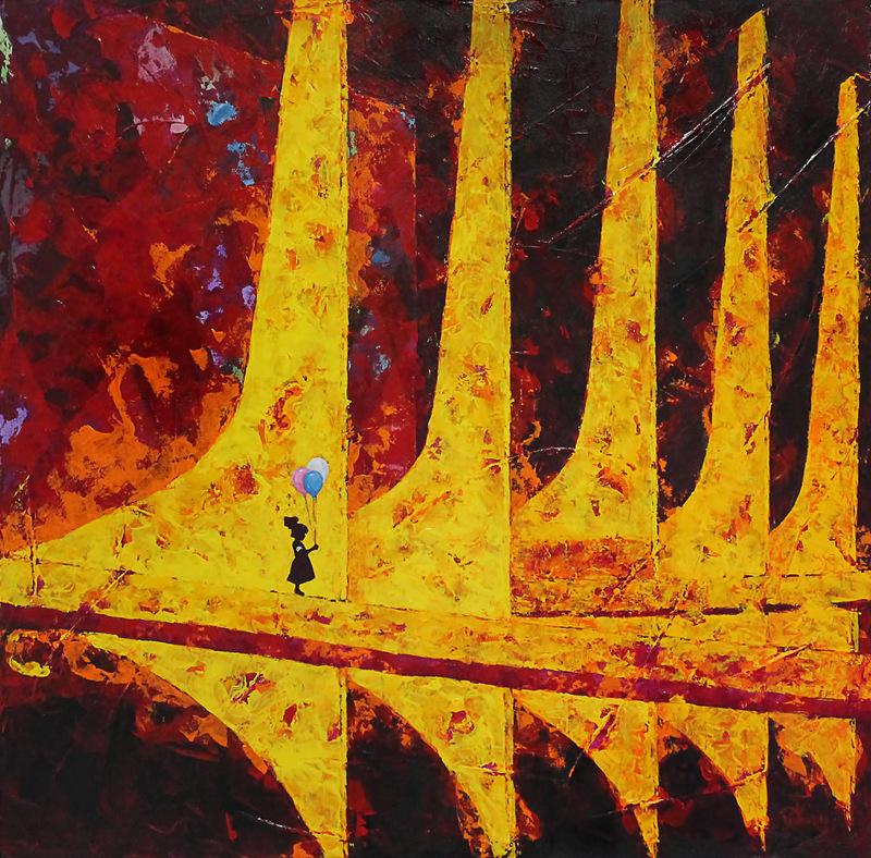 Telas representam a visão do artista sobre a realidade brasileira (foto: divulgação).