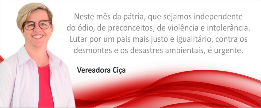Vereadora Ciça
