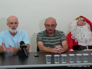 Secretário de Turismo e coordenador do projeto participaram da entrevista coletiva.