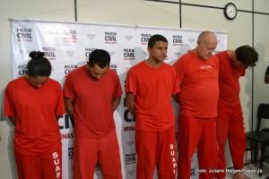 Liliane, Negão, Paulista, João do Papelão e Galego foram presos pela Polícia Civil.