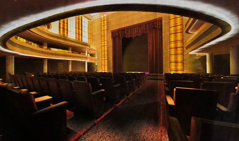 Projeto mostra teatro  amplo e moderno.