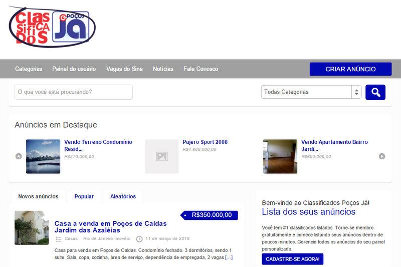 9a26bc35ac Poços Já lança site de classificados gratuitos - Poços Já ...