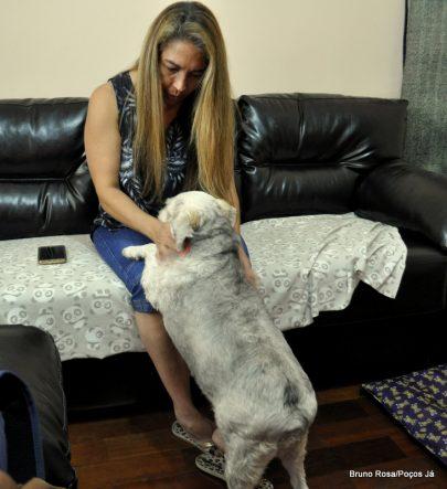 Mel foi adotada por Glaucia há dois anos.