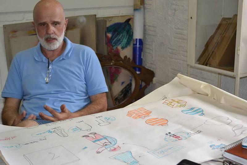 Artista plástico Marcelo Abuchalla é responsável pelo projeto do Natal de Poços de Caldas.