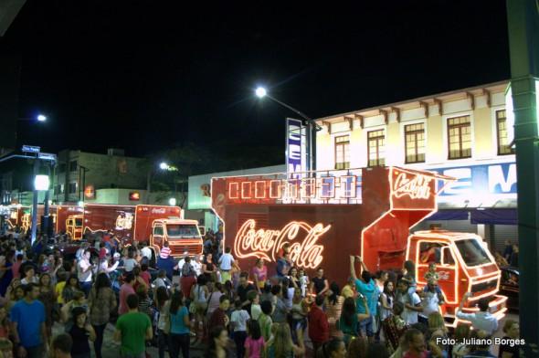 A Parada de Natal, com caminhões da Coca-Cola, será no dia 28 de novembro.